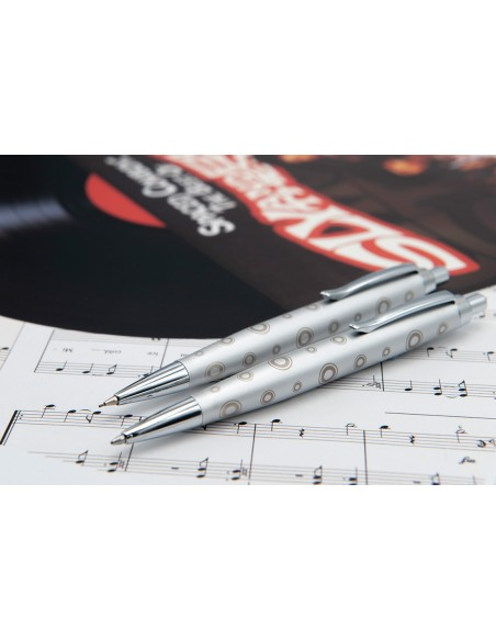 Set of ballpen and mechanical pencil Inoxcrom Round Funky