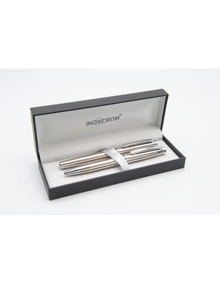 Inoxcrom Arc Inox ballpen & fountain pen set