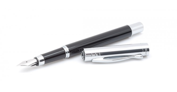 Inoxcrom black VISTA fountain pen