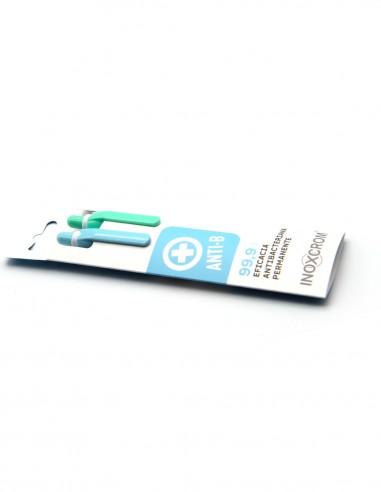 Inoxcrom AntiBacterial refillable ballpen - Sleeve of 2
