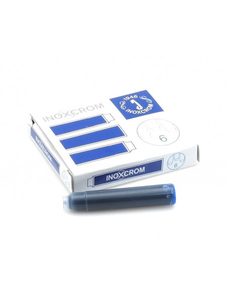 Inoxcrom 6-unit Blue ink pen cartridges